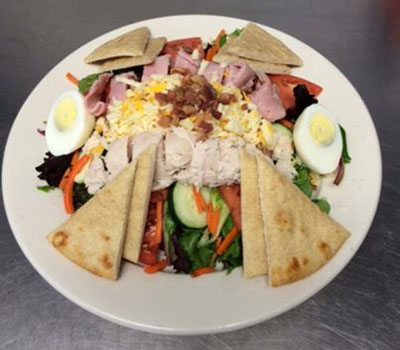 Chef Salad with Pita Triangles